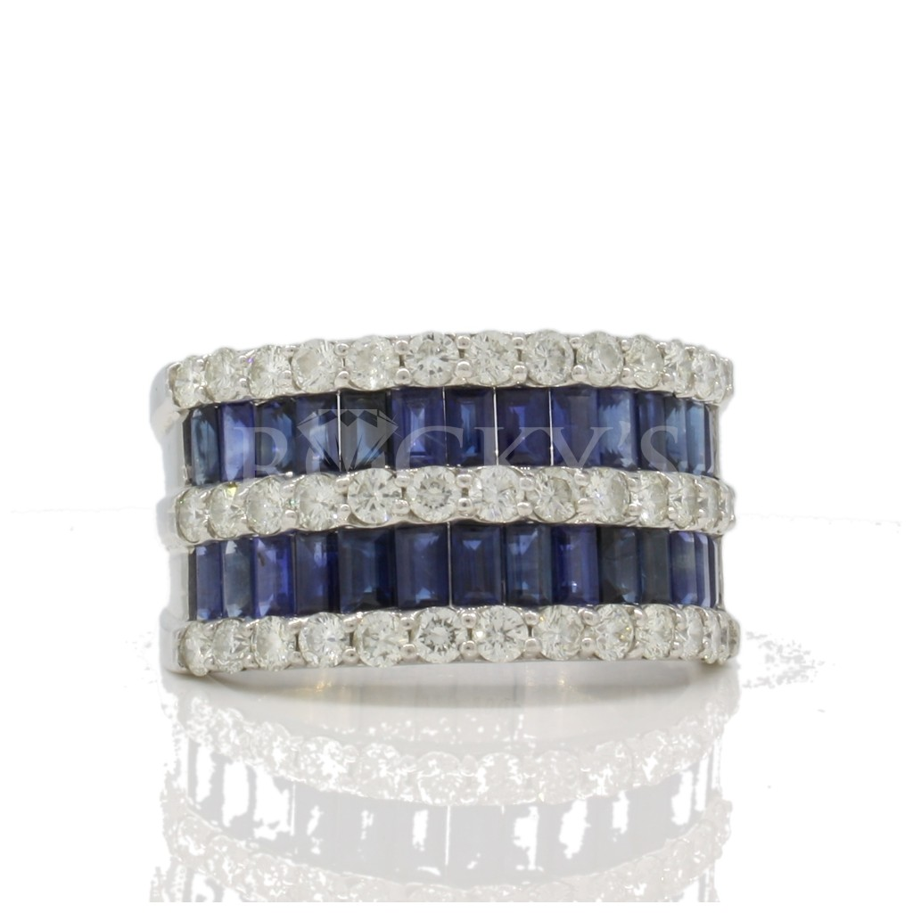 Sapphire Ring with 3.71 Carats