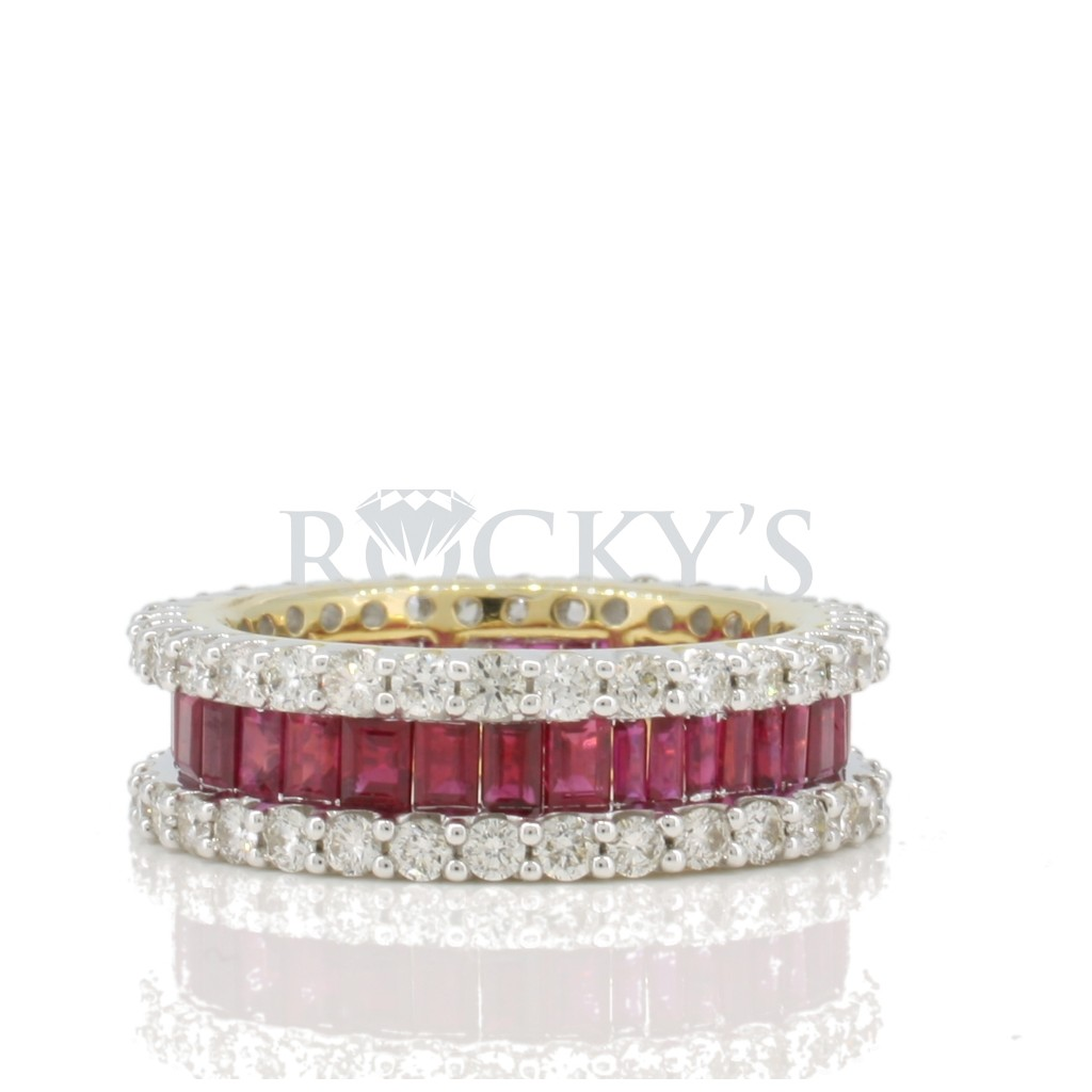 Ruby Diamond Ring with 4.37 Carats