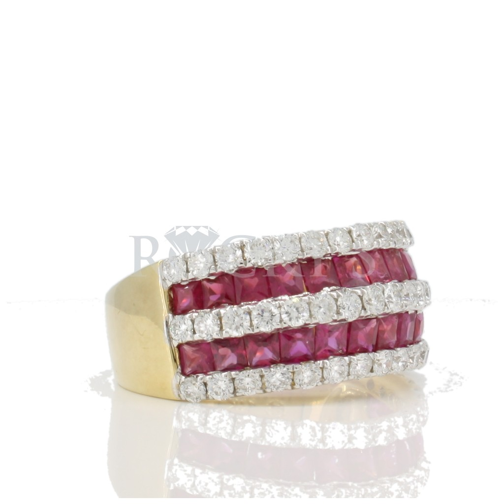 Ruby Diamond Ring with 3.38 Carats