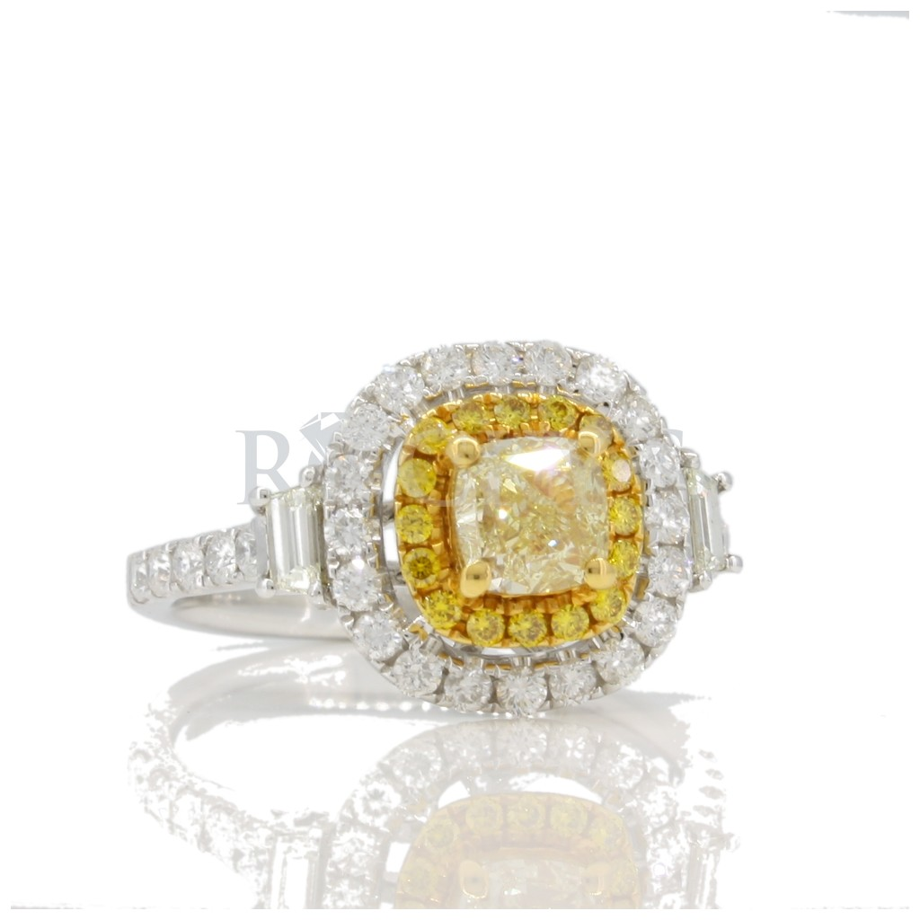 Yellow diamond Ring with 1.92 carat