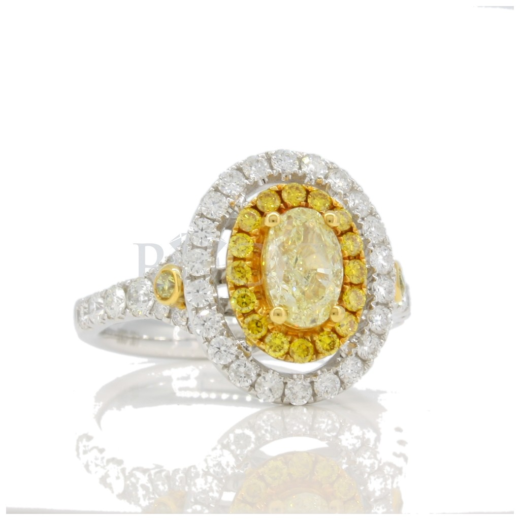 Yellow Diamond Ring with 2.05 Carats