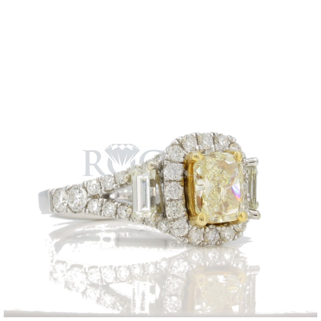 Yellow diamond with 1.51 carat