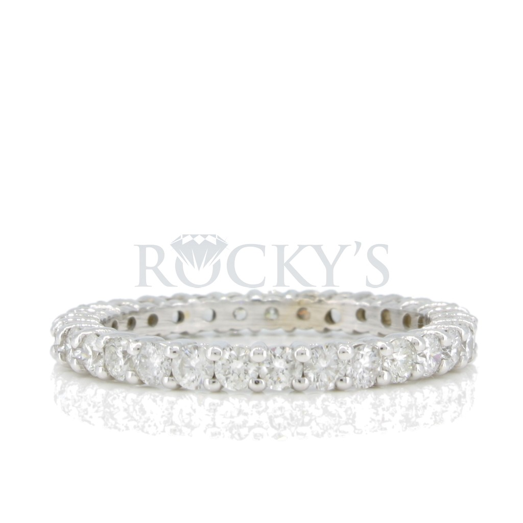 Diamond eternity band with 1.25 carat