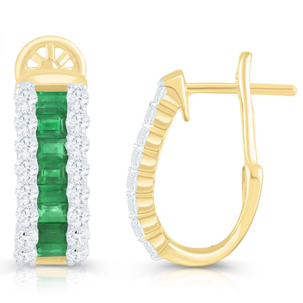 Emerald earring with 2.30 carat