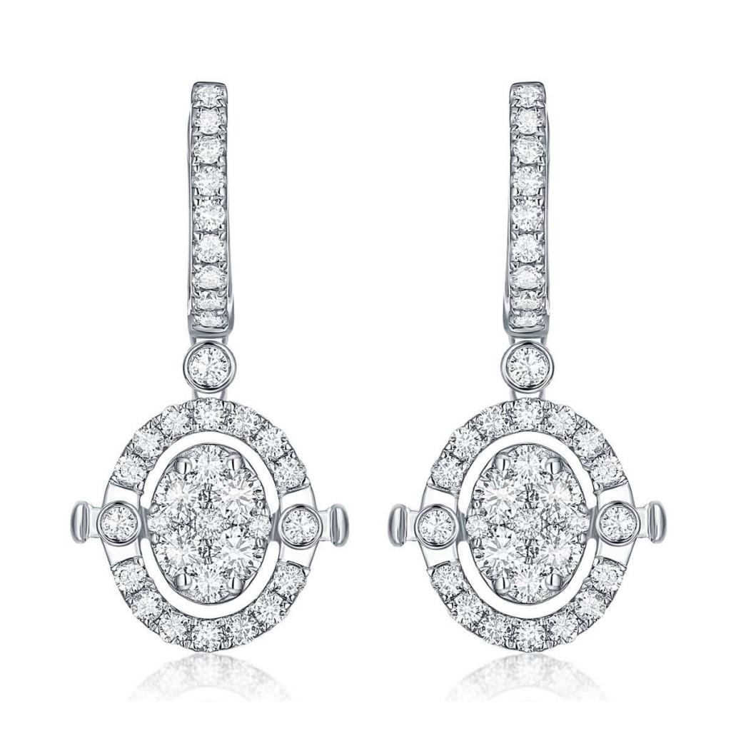 Diamond earring with 2.20 carat