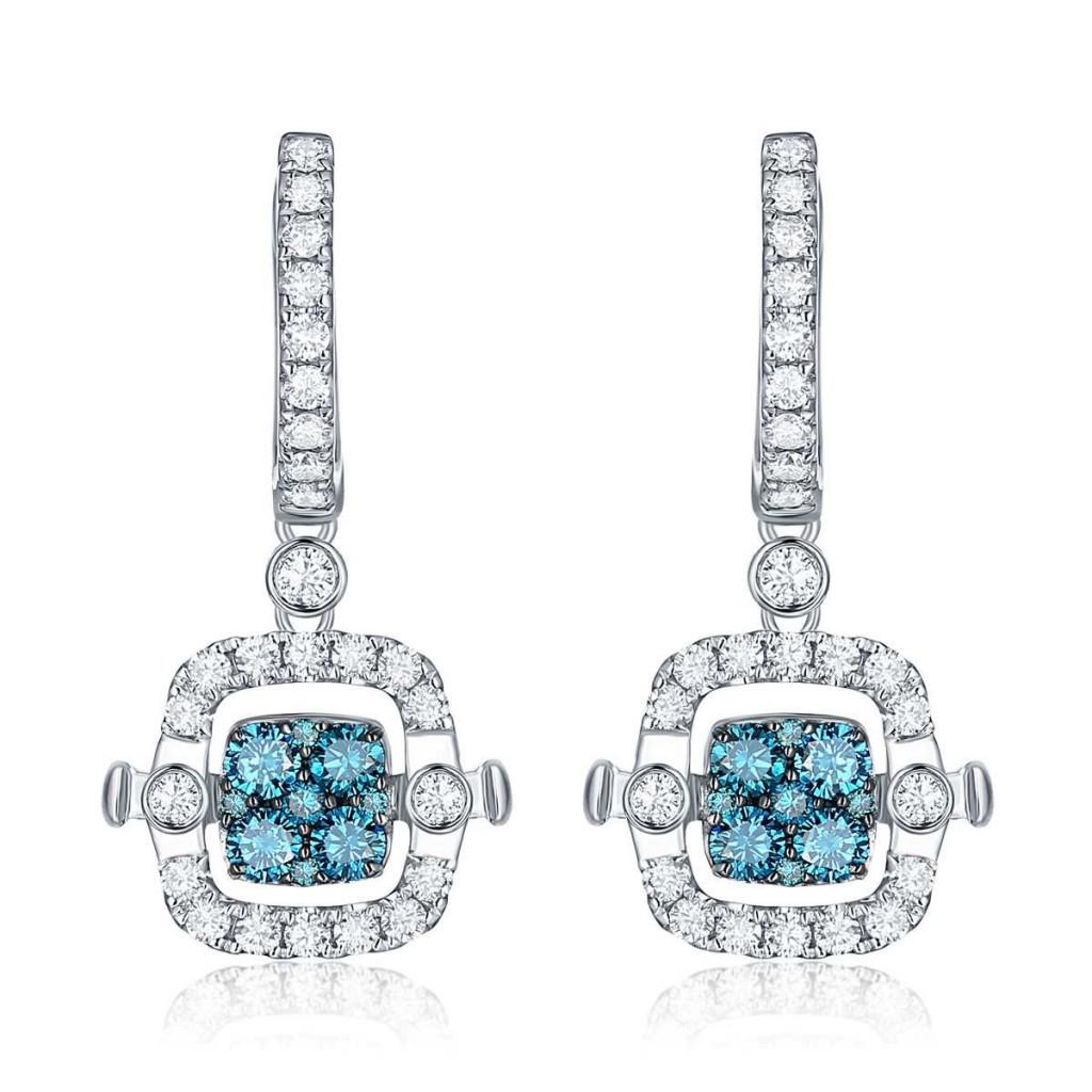 Diamond earring with 1.82 carat