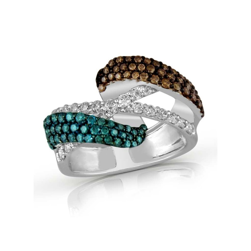 Multi-Color Diamond Ring with 1.67 Carat