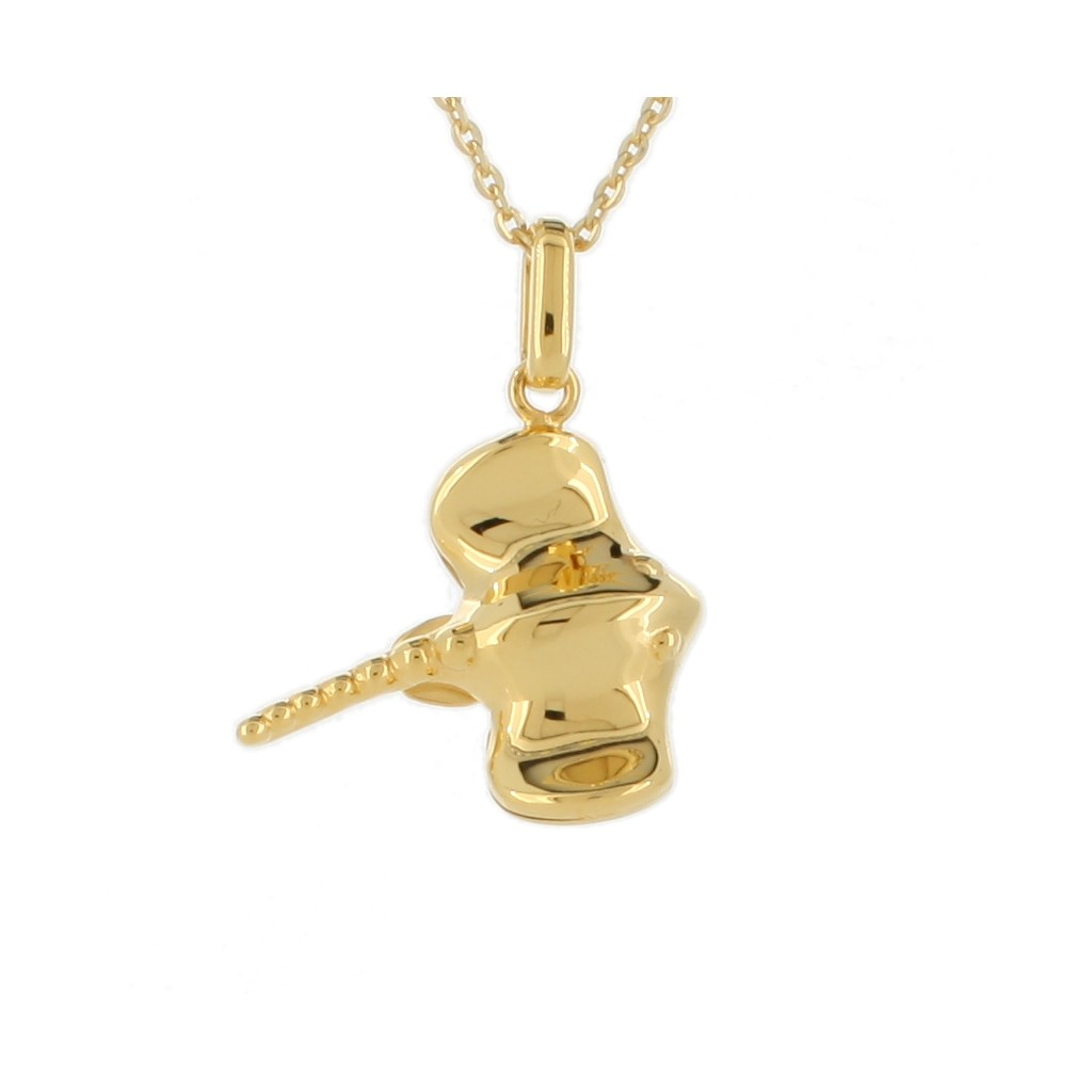14k Yellow Gold Stringray Pendent