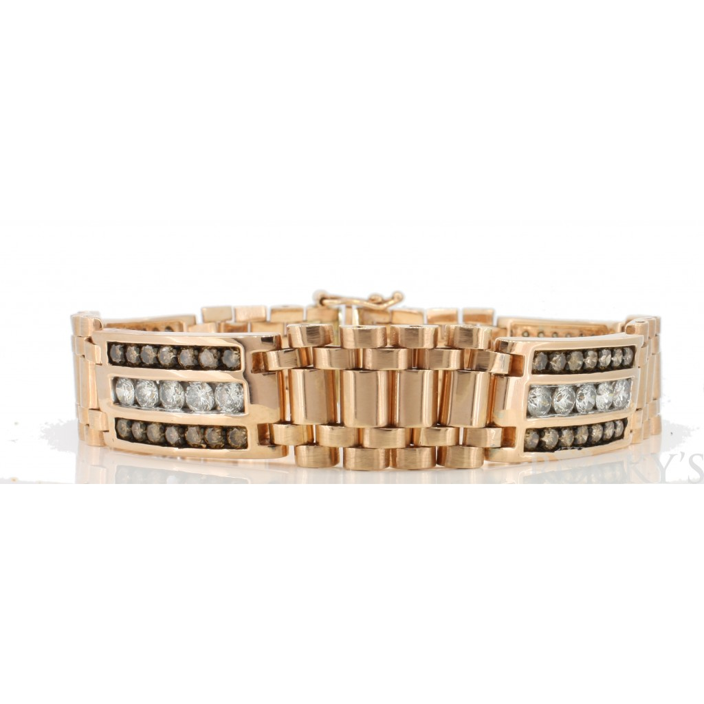 Men's Champagne Diamond  Bracelet with 6.33 Carats