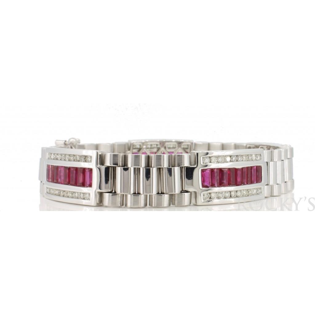 Ruby Men's Bracelet with 7.86 Carats