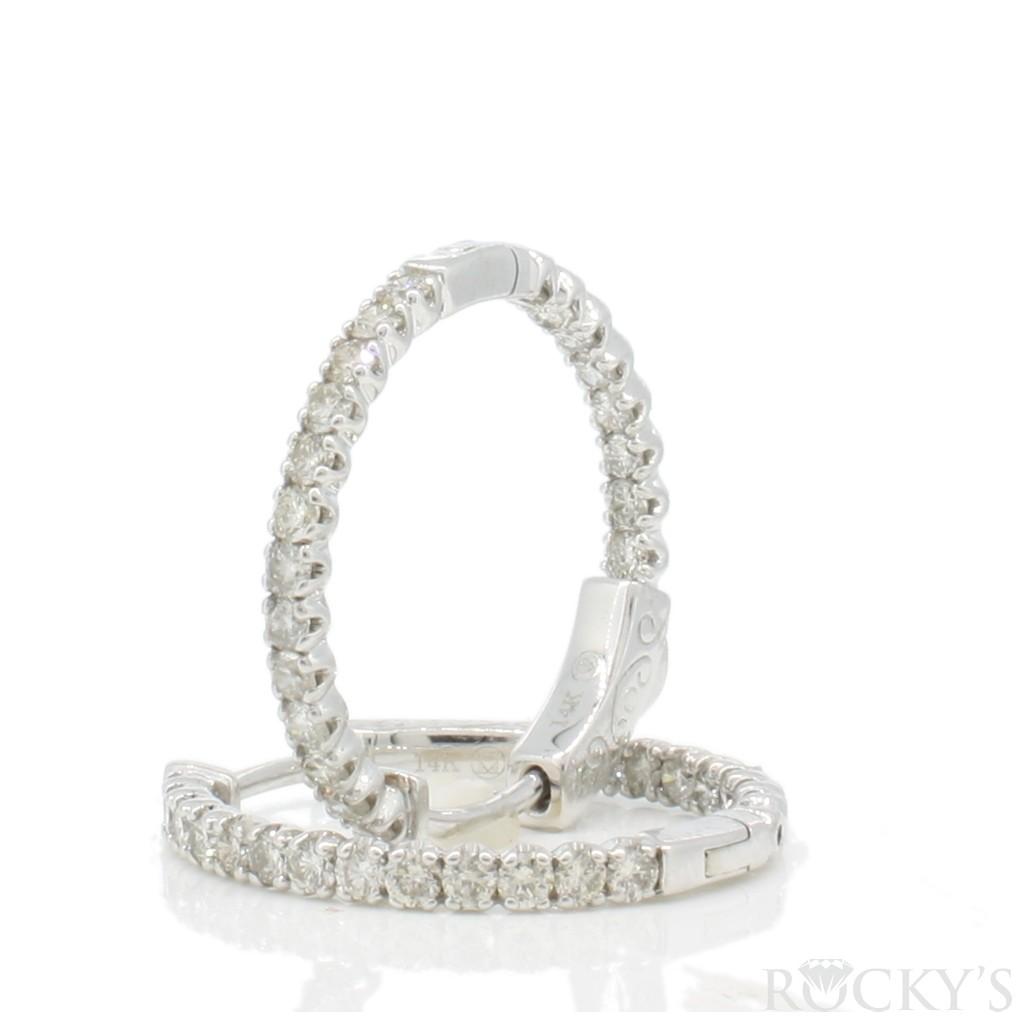 Women's Diamond Hoop with 1.00 Carats