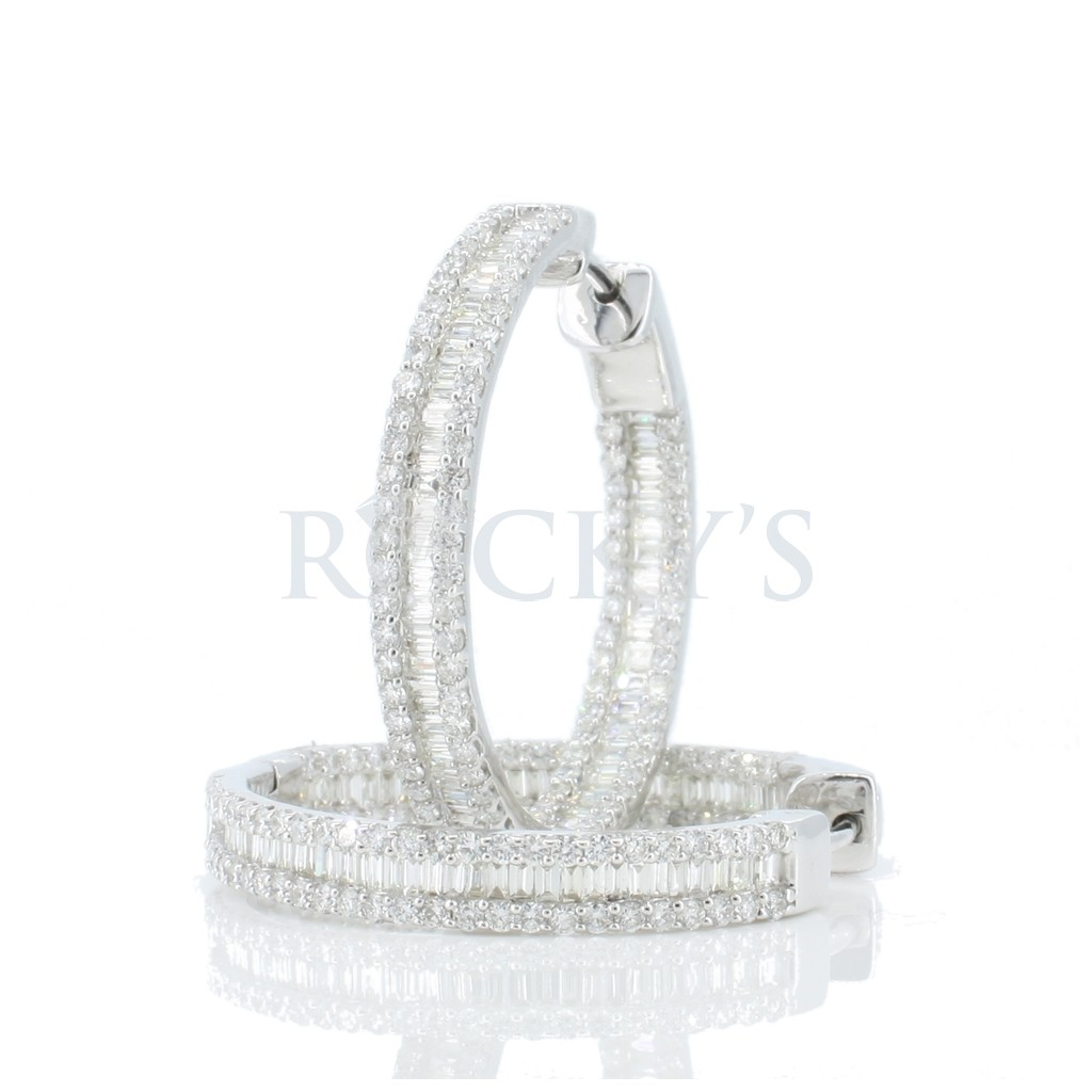 Women's Diamond Hoop with 2.88 Carats