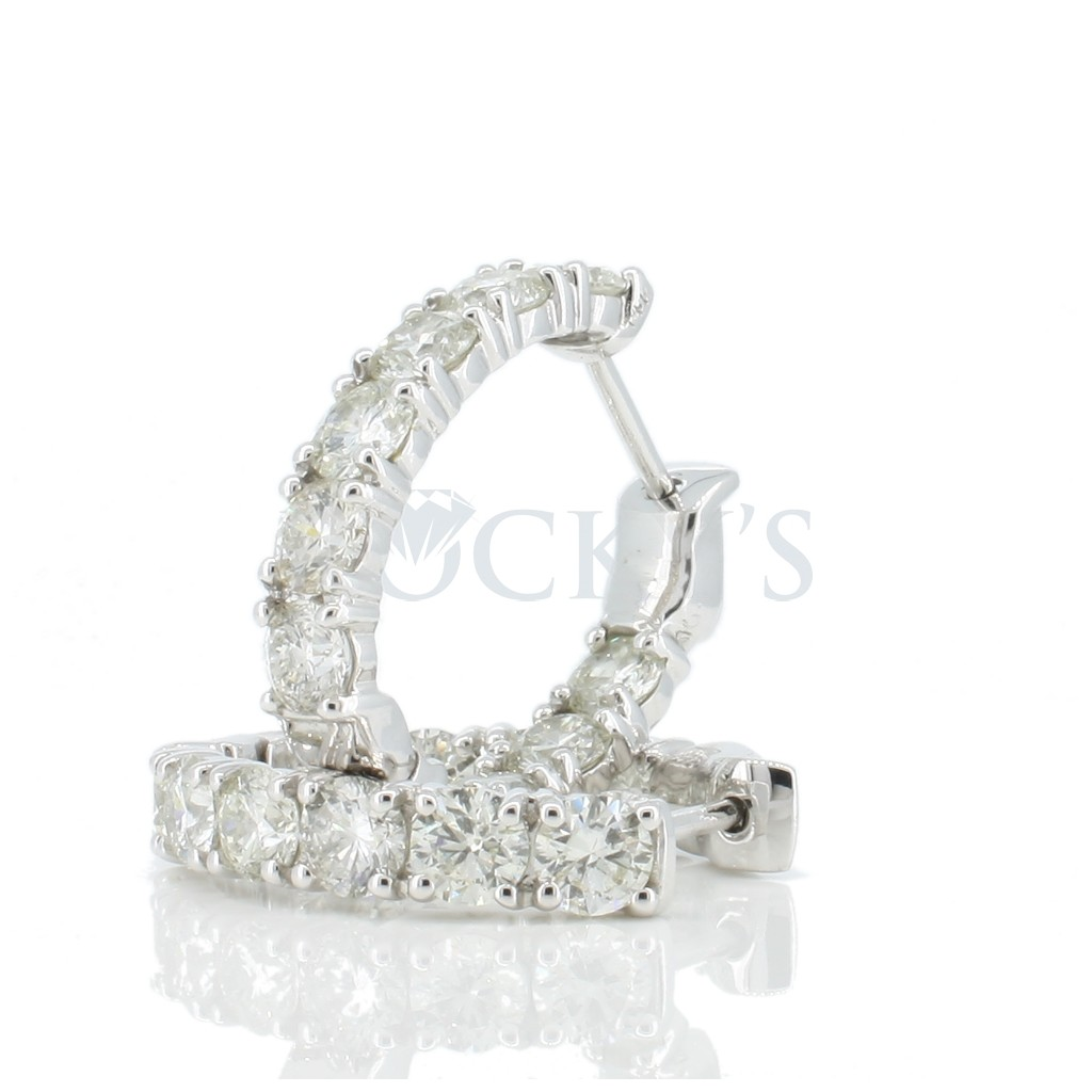 Women's Diamond Hoop with 4.61 Carats