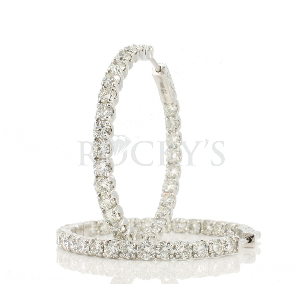 Women's Diamond Hoop with 6.31 Carats