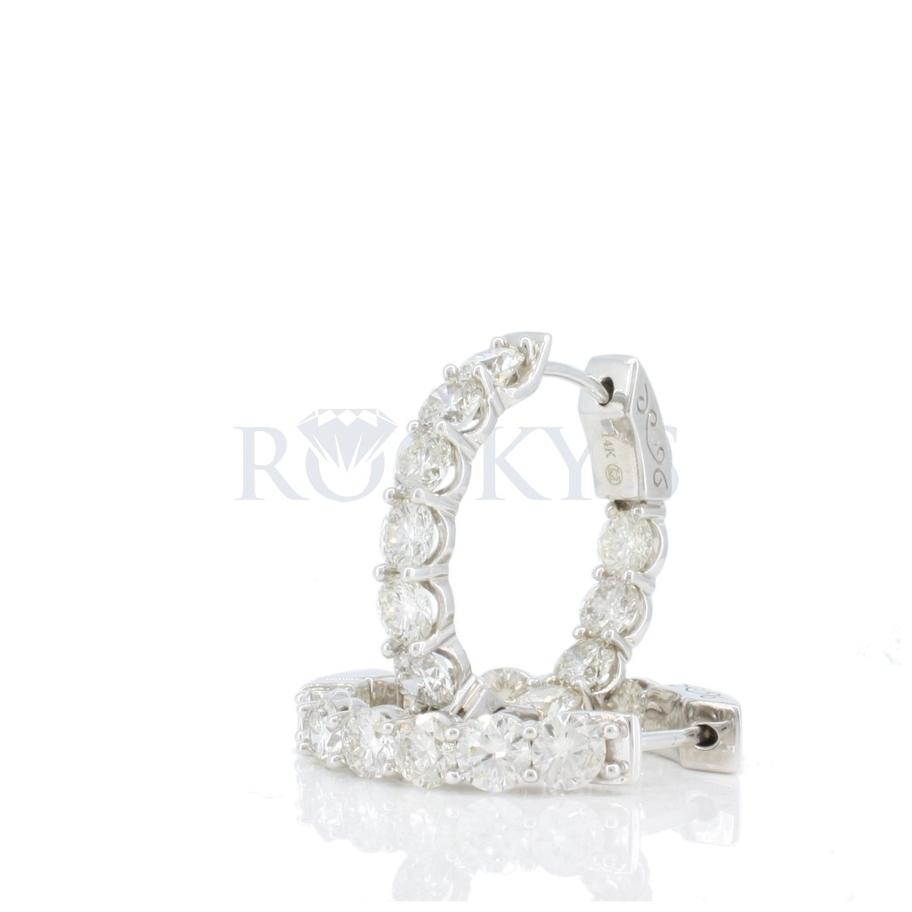 Women's Diamond Hoop with 4.95 Carats