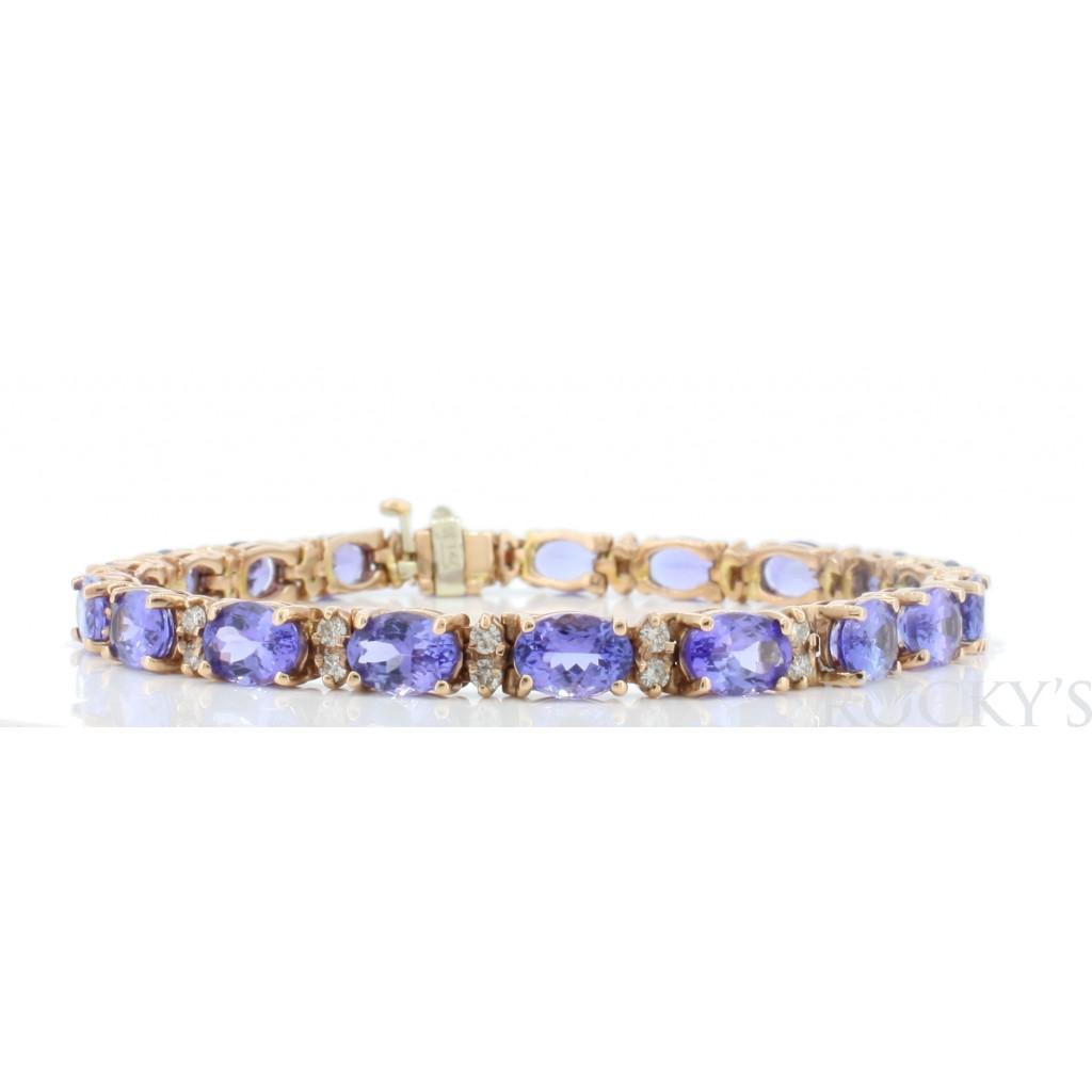 Tanzanite Diamond Bracelet with 16.79 Carats