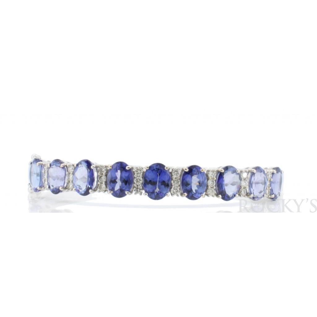 Tanzanite Diamond Bangle with 11.43 Carats