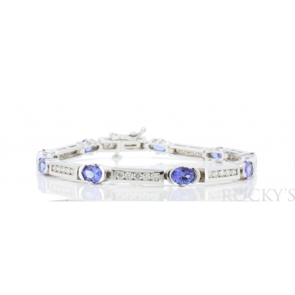 Tanzanite Diamond Bracelet with 4.61 Carats
