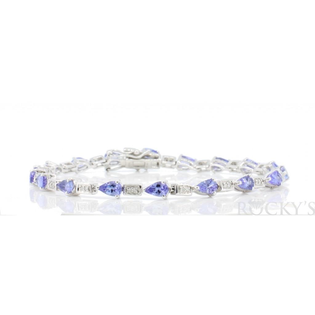 Tanzanite Diamond Bracelet with 3.89 Carats