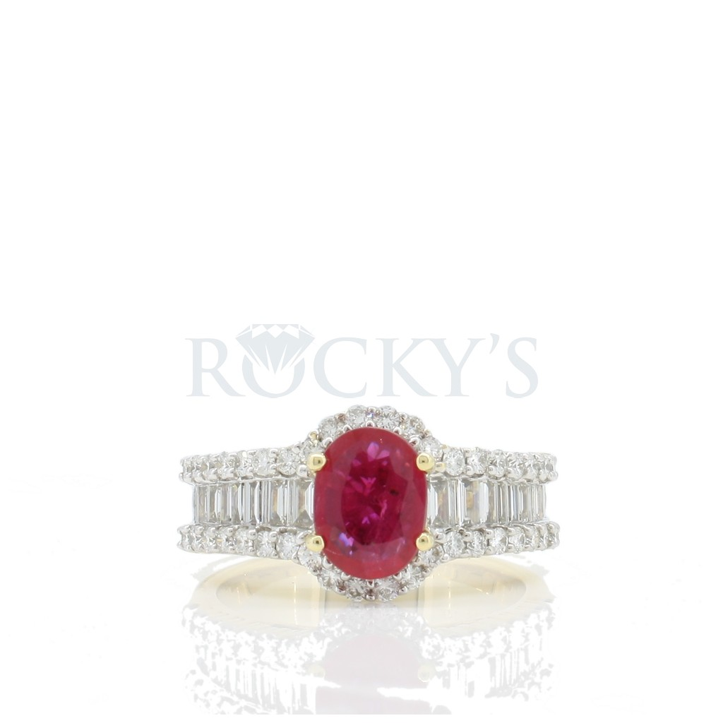 Ruby Diamond Ring with 1.03 Carats