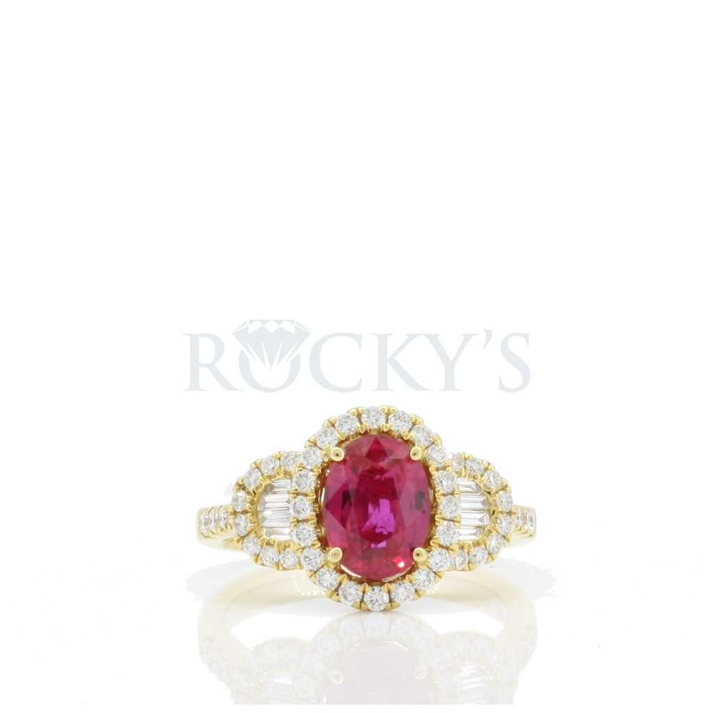 Ruby Diamond Ring with 2.05 Carats