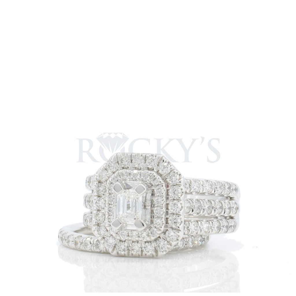 Engagement ring with 2.25 carat