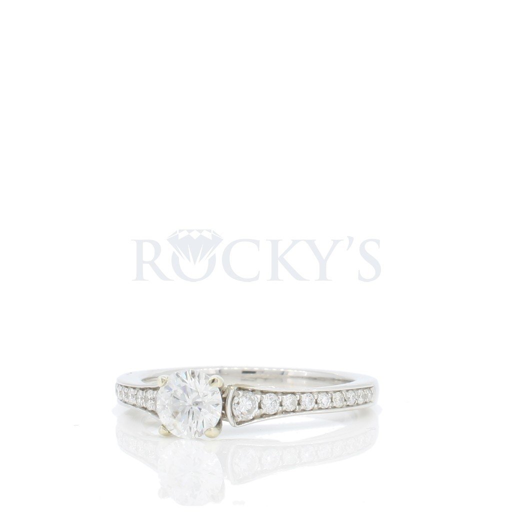 Engagement Ring with 0.79 Carats