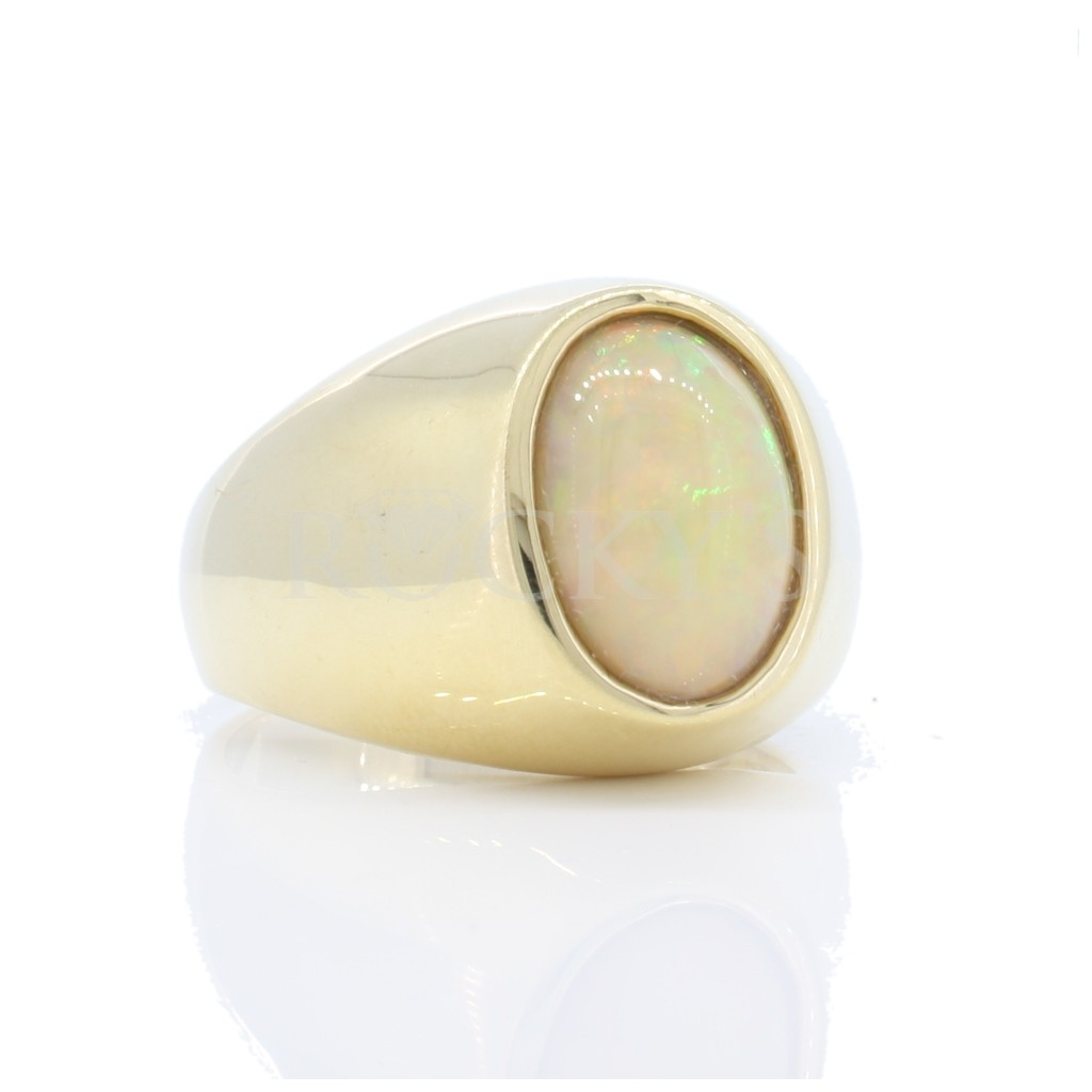 Men's Opal Ring with 2.42...