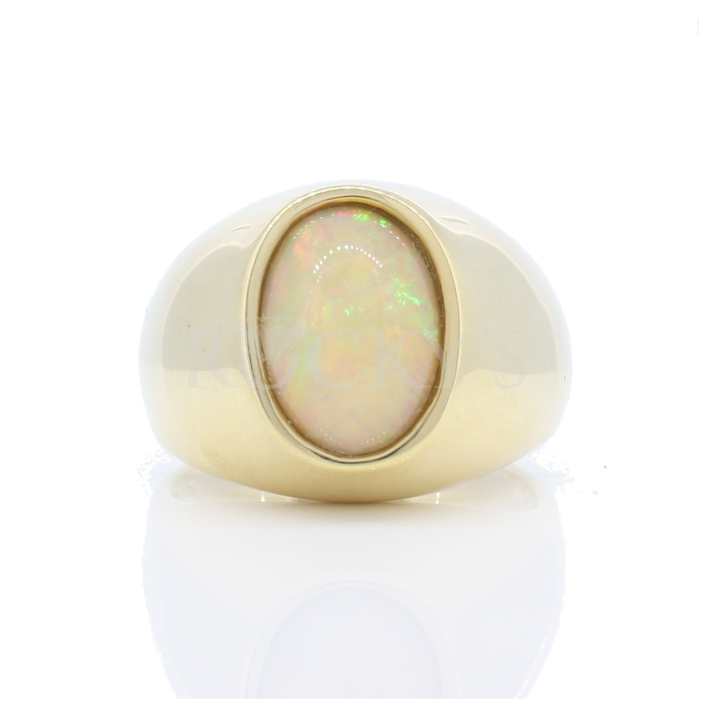 Men's Australian Opal Ring with 2.42 Carats