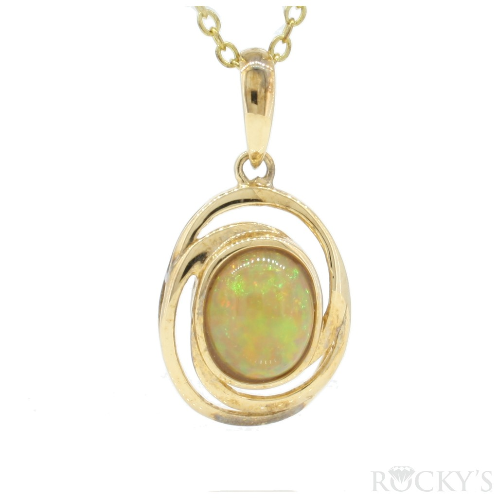 Opal Pendent with 1.62 Carats