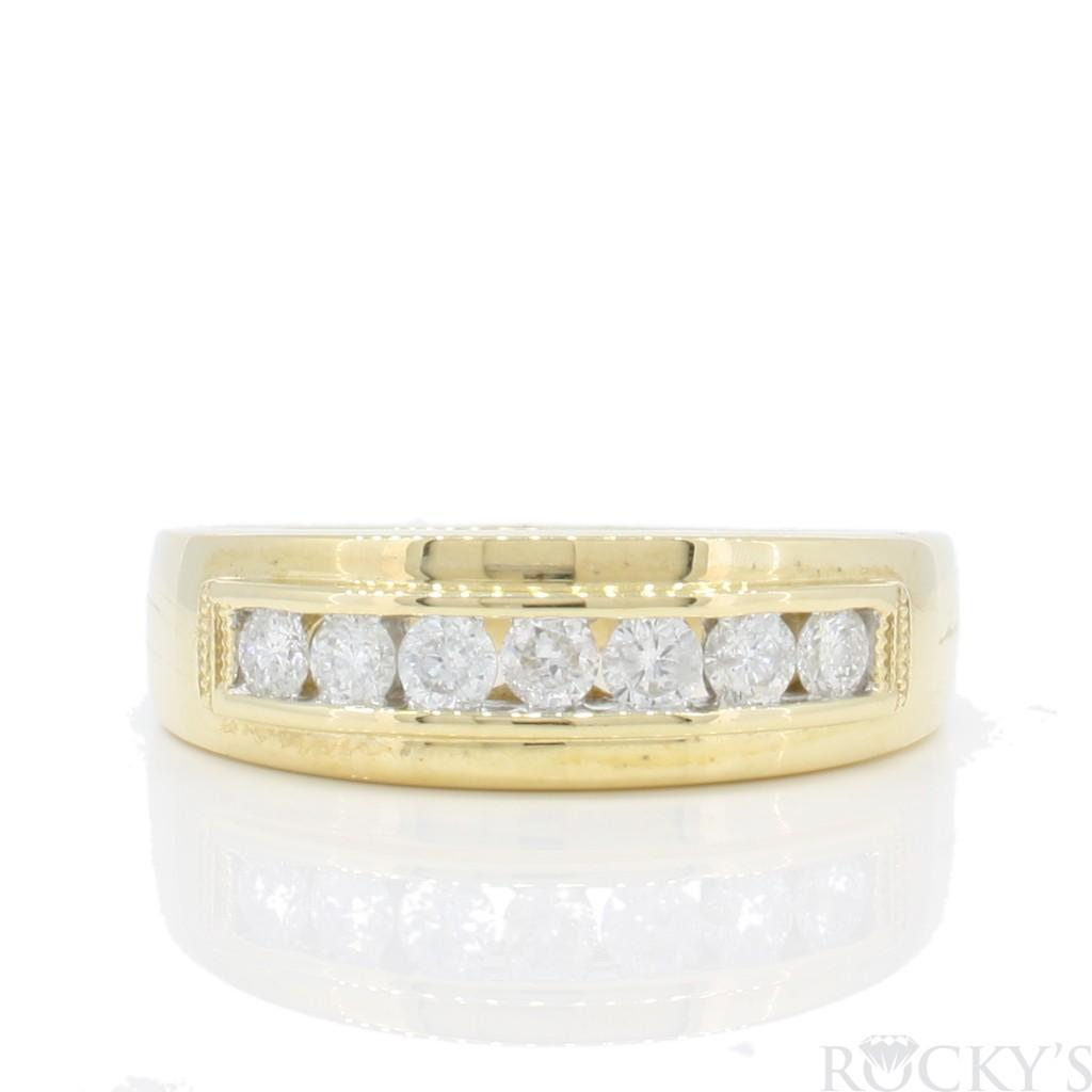 Men's Diamond Band with 0.50 carats