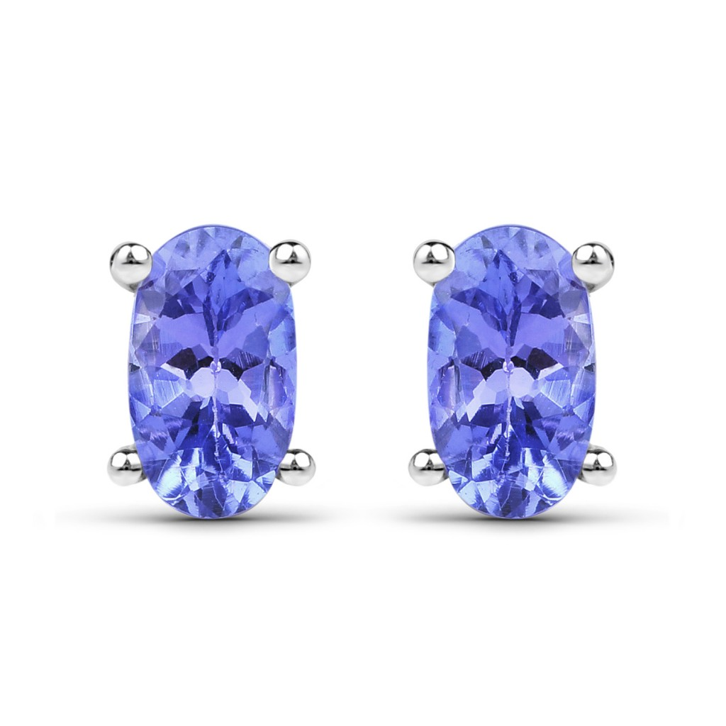 Tanzanite Silver Earrings with 0.50 Carats