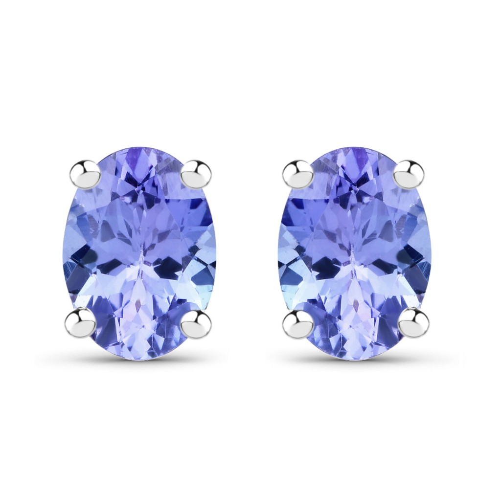 Tanzanite Silver Earrings with 0.88 Carats