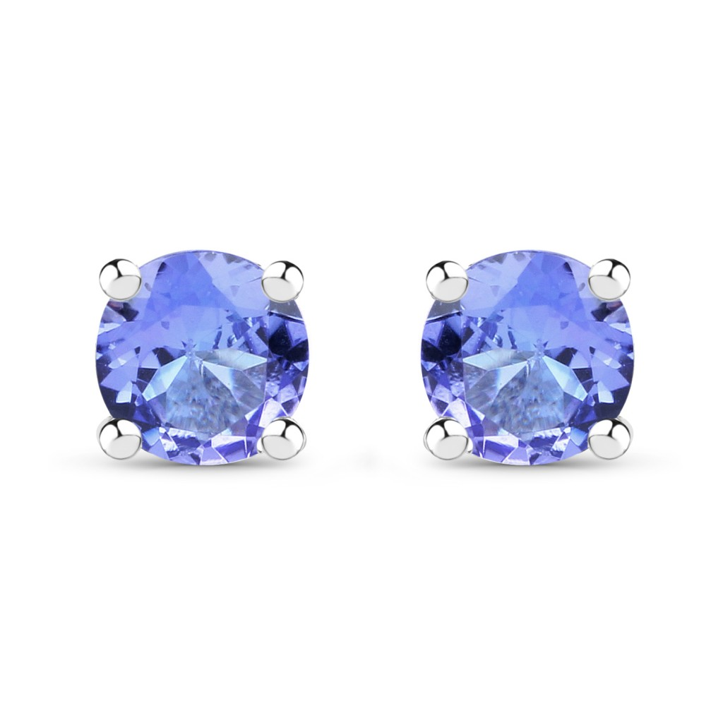 Tanzanite Silver Earrings with 0.46 Carats