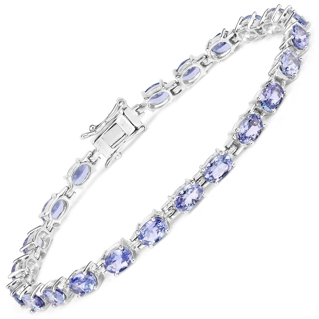 Tanzanite Silver Bracelet with 9.68 Carats