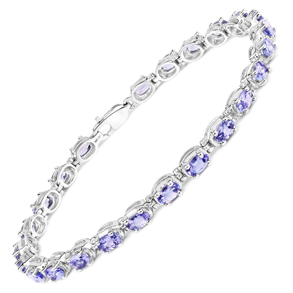 Tanzanite Silver Bracelet with 6.25 Carats