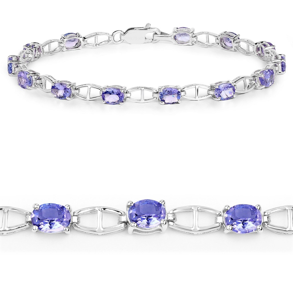 Tanzanite Silver Bracelet with 4.64 Carats
