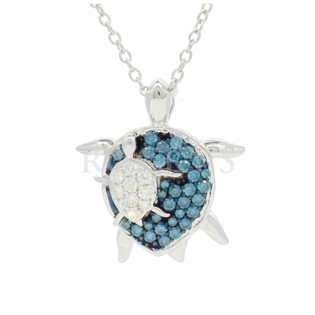 Blue Diamonds Turtle - Sea life collection