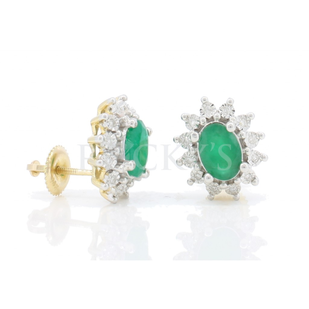 Emerald Earrings with 1.84 Carats