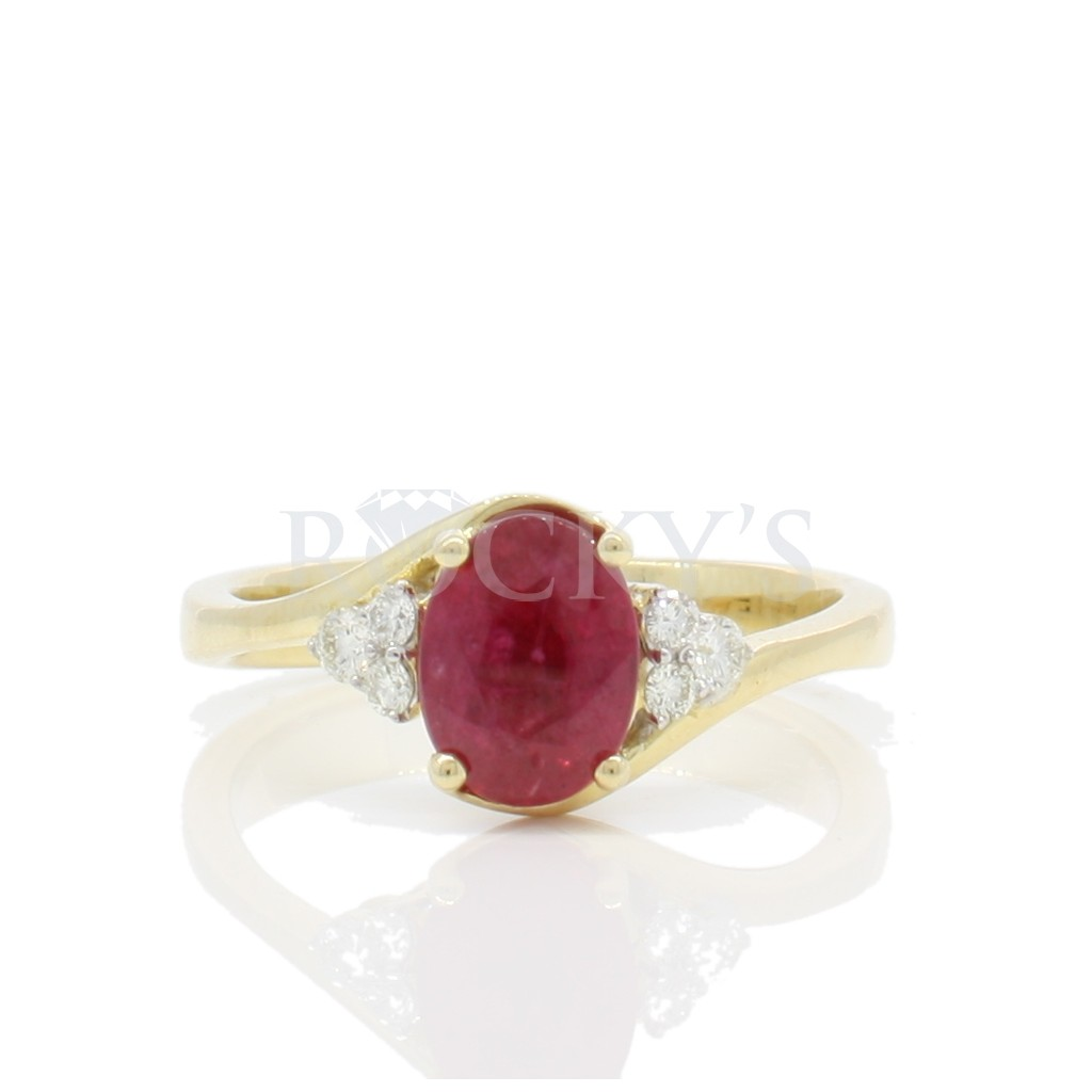 Ruby Diamond Ring with 1.64...
