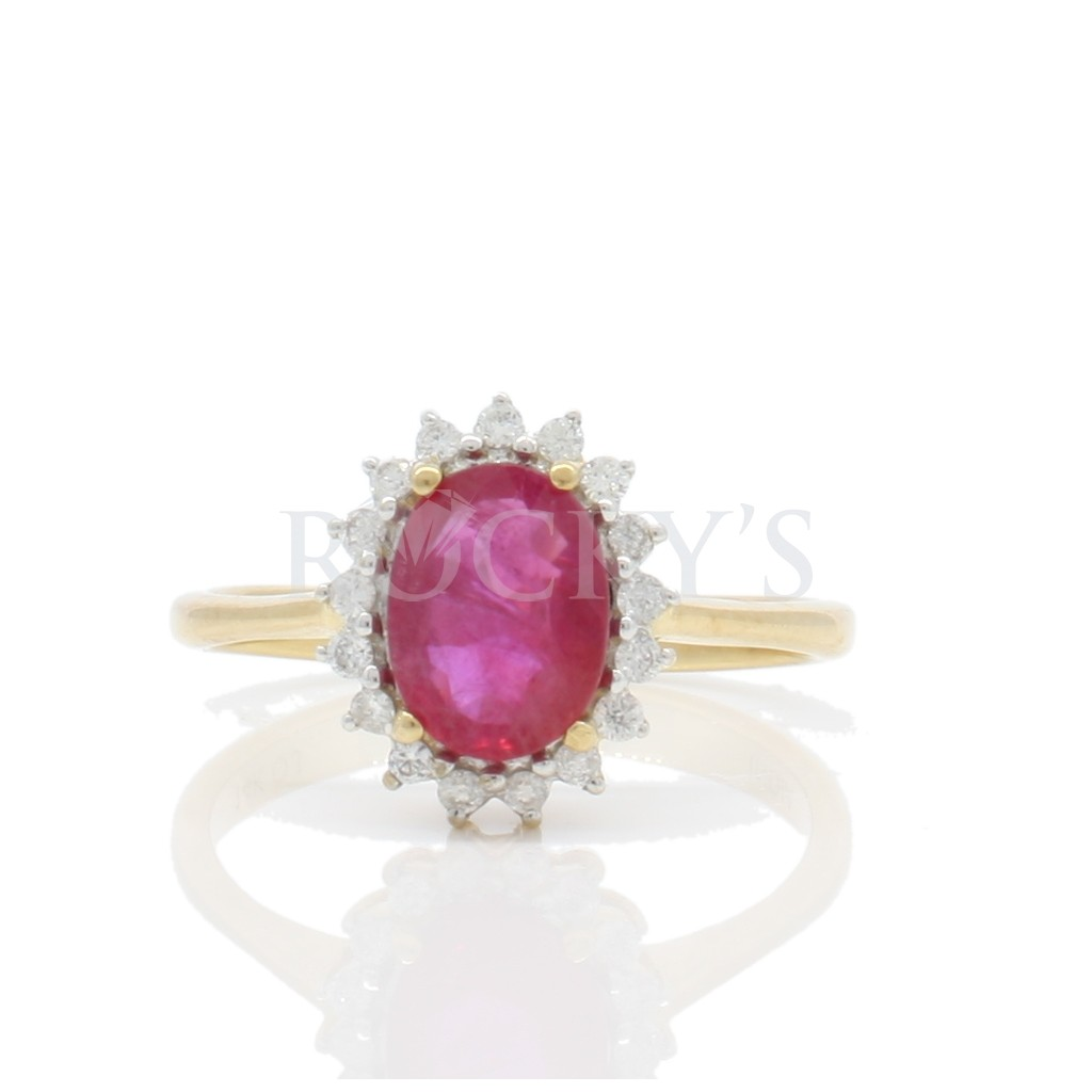 Ruby Diamond Ring with 1.67...