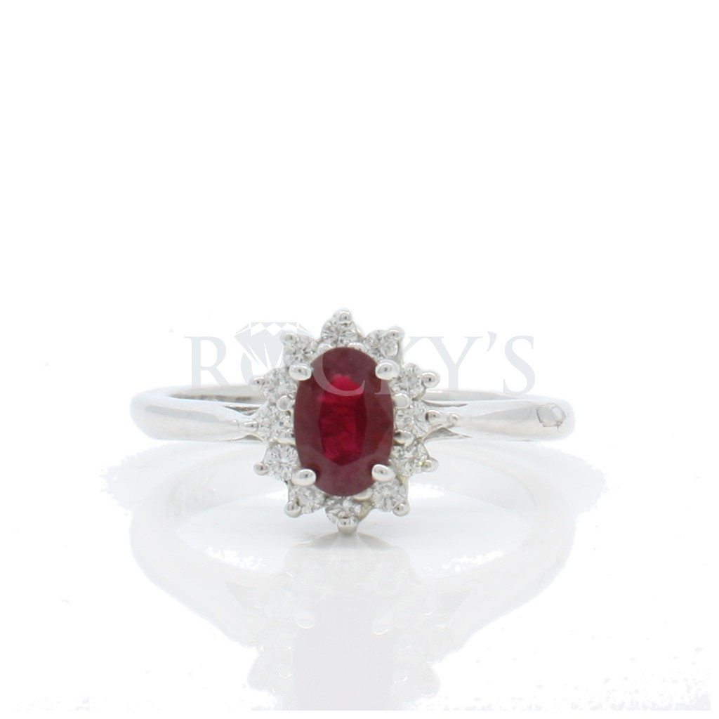 Ruby Diamond Ring with 0.66...