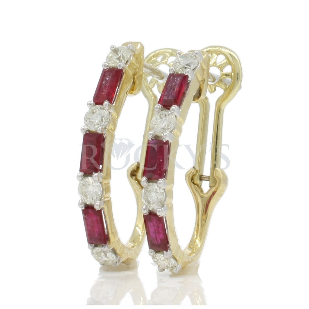 Ruby Earrings with 1.57 Carats