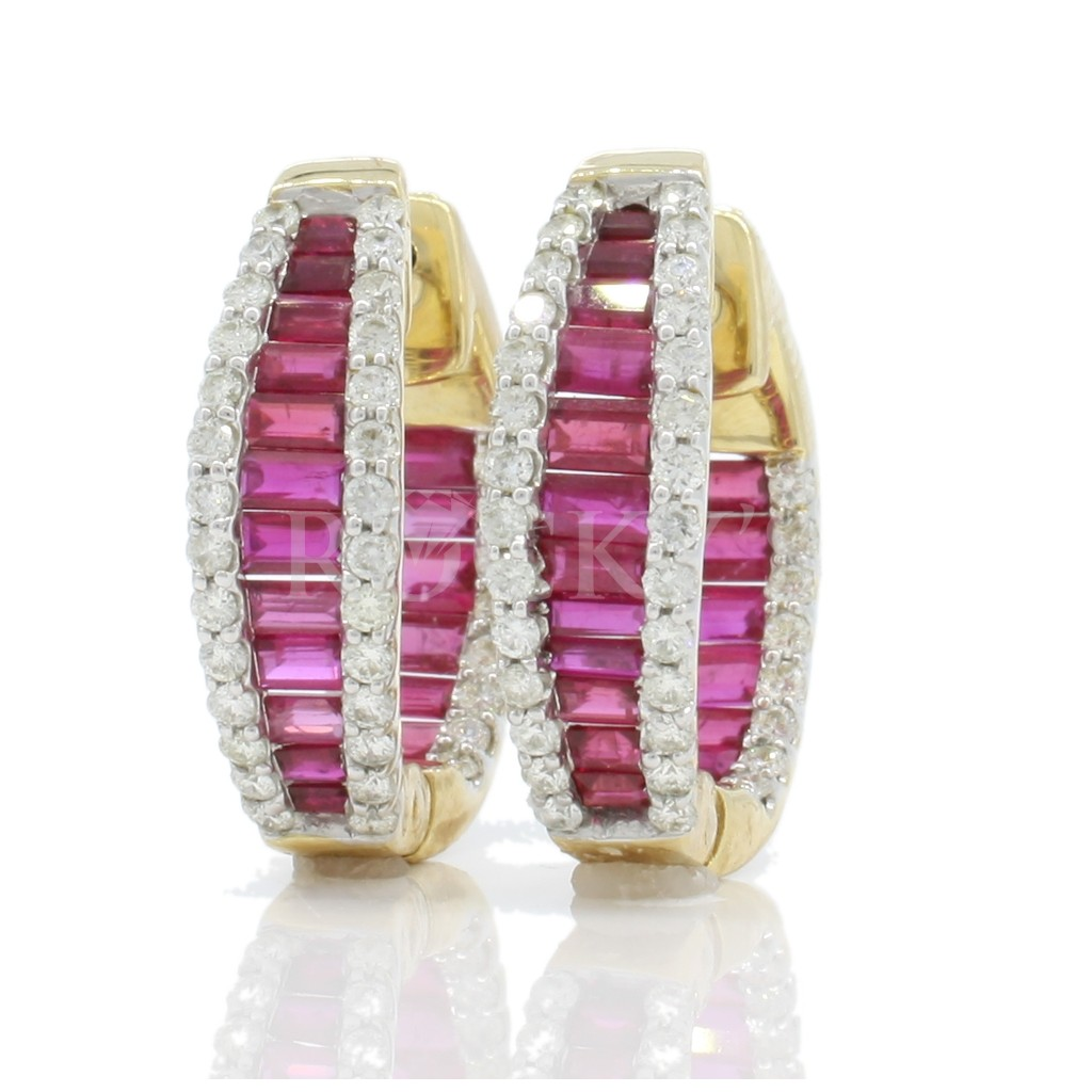 Ruby Earrings with 4.10 Carats
