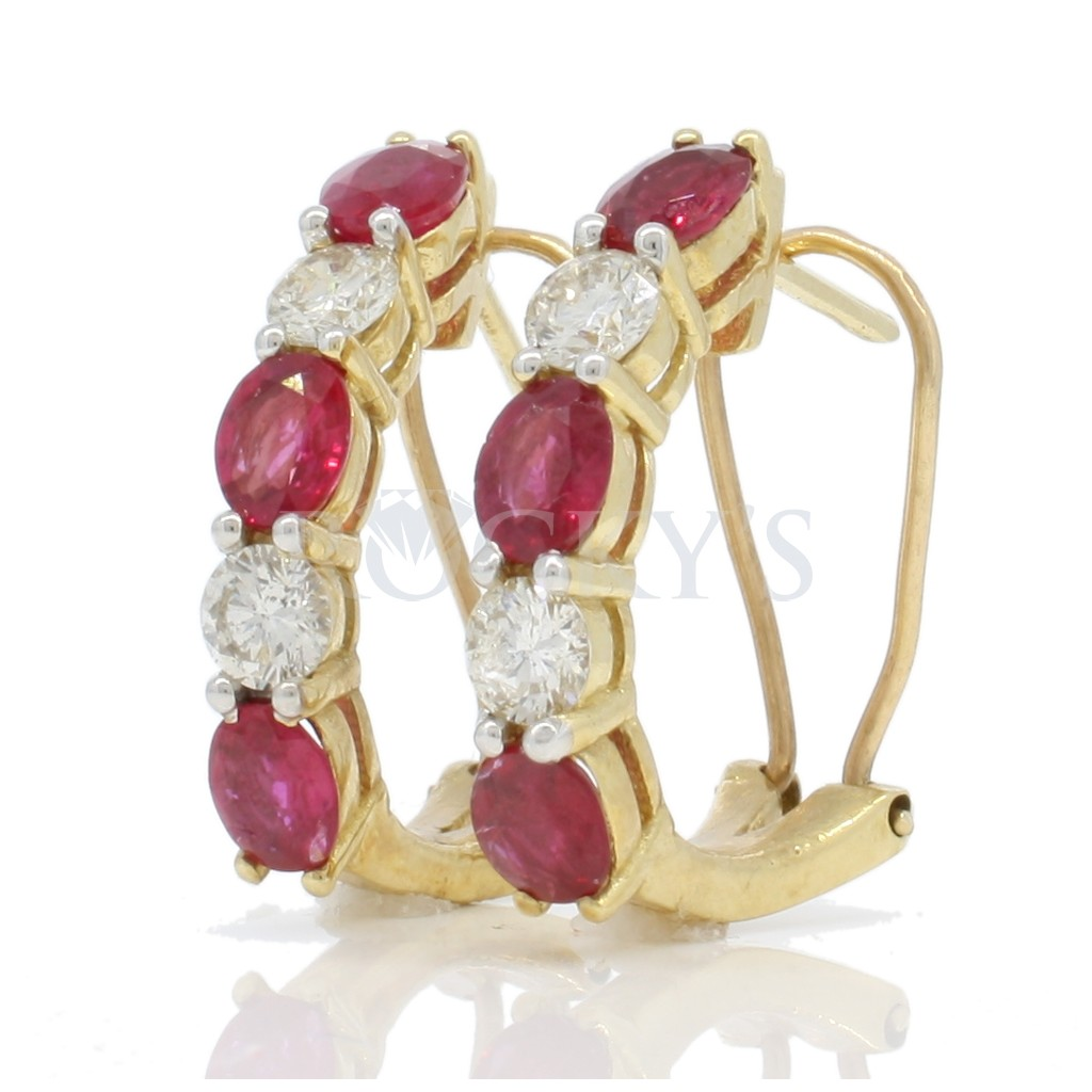 Ruby Earrings with 2.93 Carats
