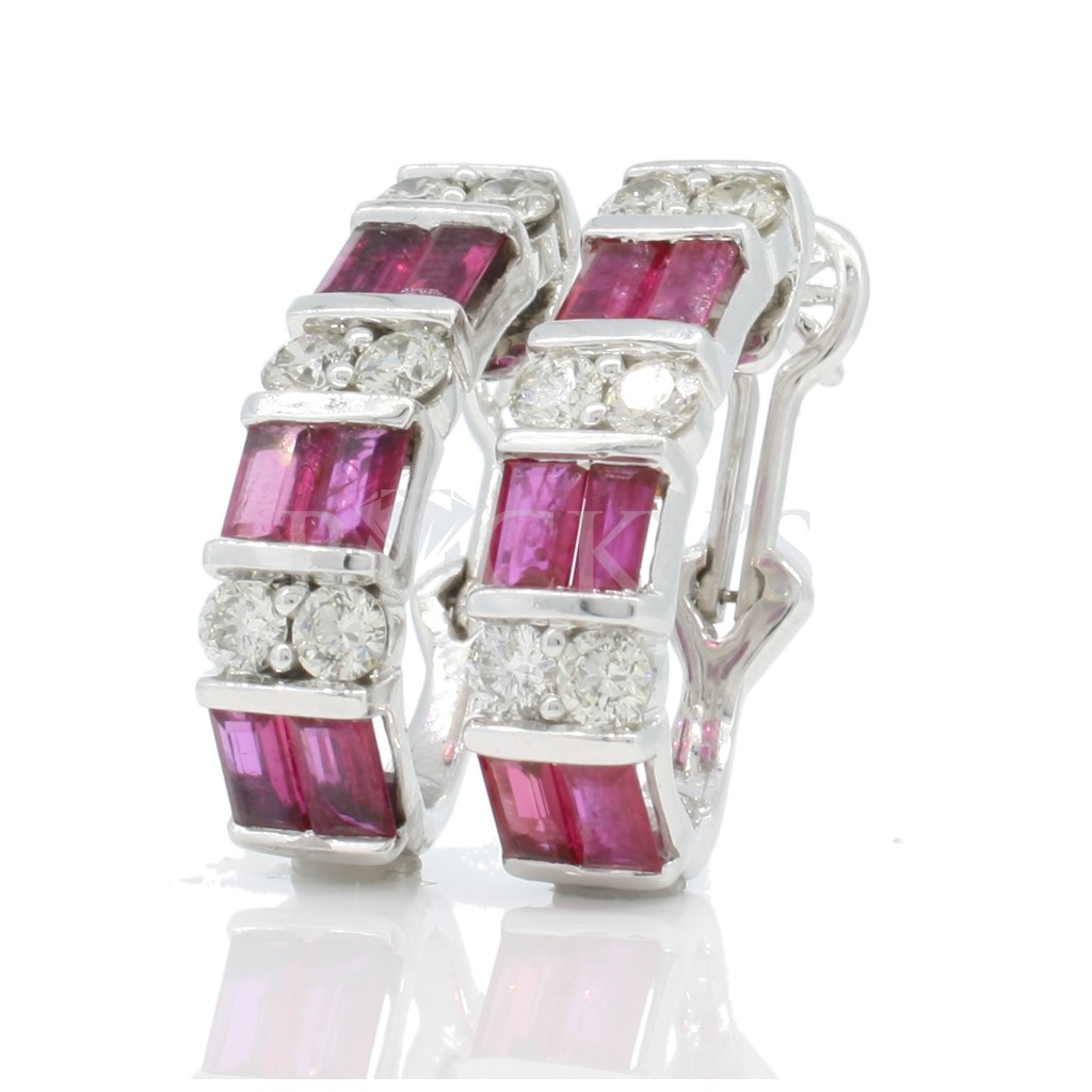 Ruby Earrings with 4.34 Carats