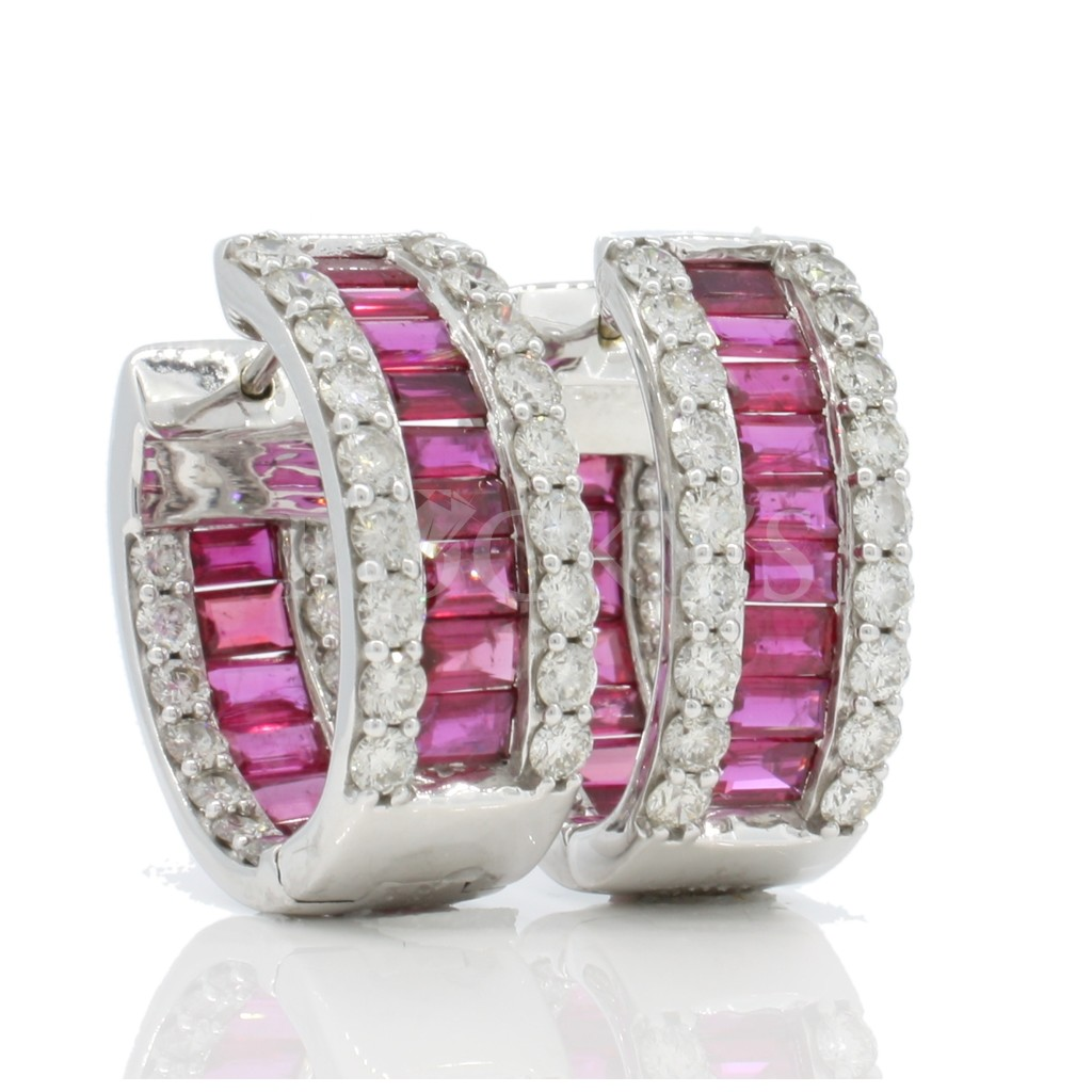 Ruby Earrings with 8.40 Carats