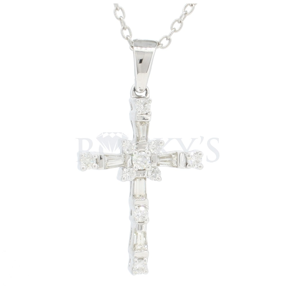 Diamond Cross Pendent with 0.75  Carats