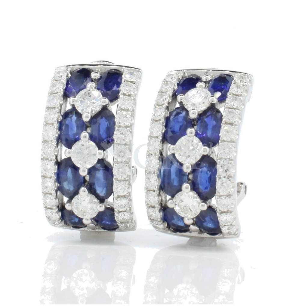Sapphire Earrings with 6.87 Carats