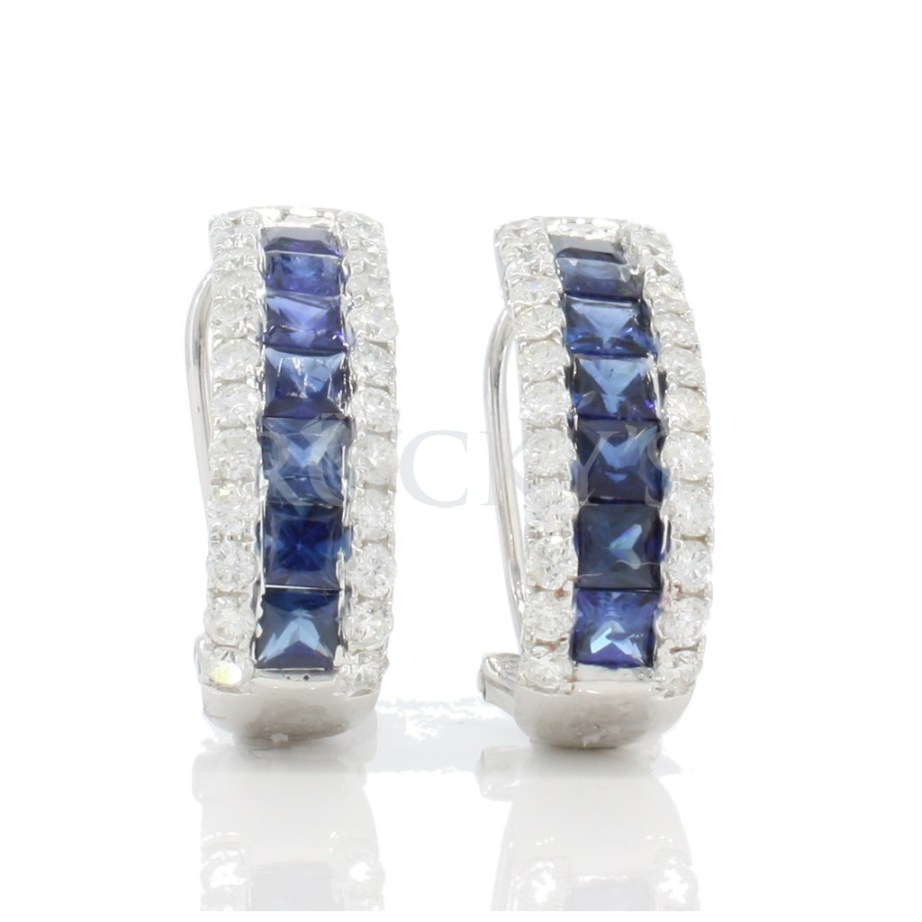 Sapphire Earrings with 3.42 Carats